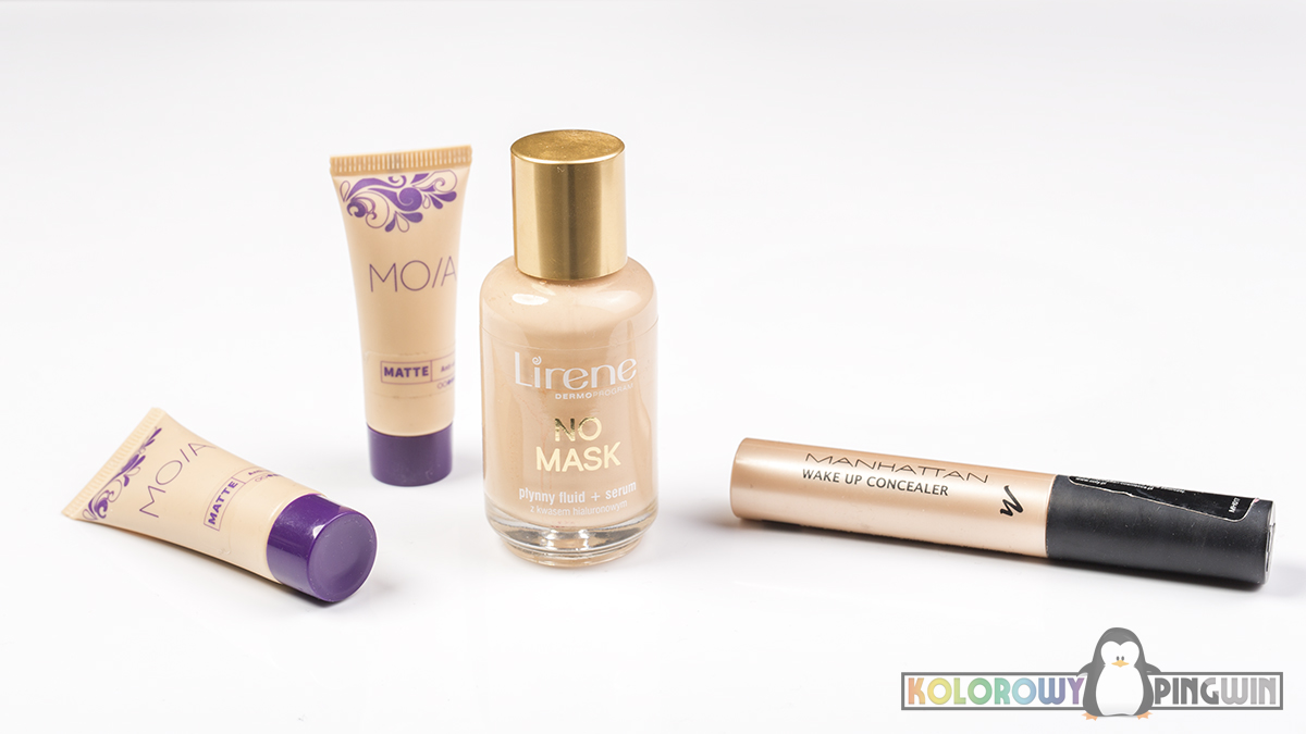 Lirene No Mask, MOIA Matte, Manhattan Wake up concealer