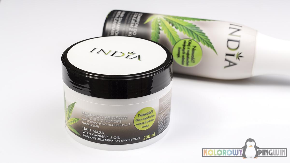 India, maska do włosów z olejem konopnym, kosmetyki z olejem konopnym