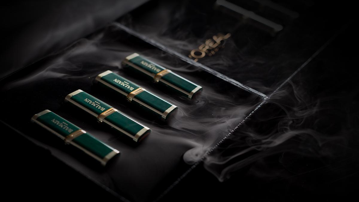 zestaw pomadki loreal balmain color riche photography elegant lipsticks